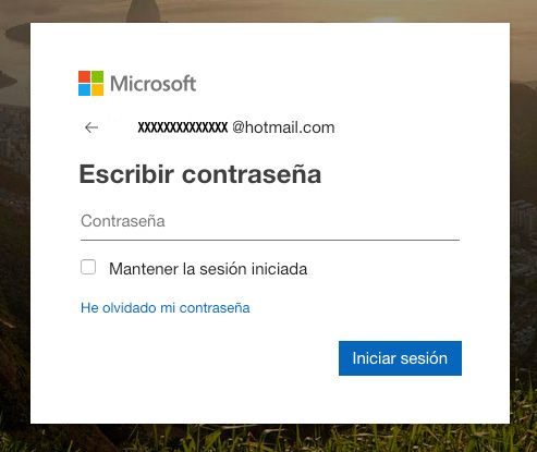 crear cuenta hotmail password